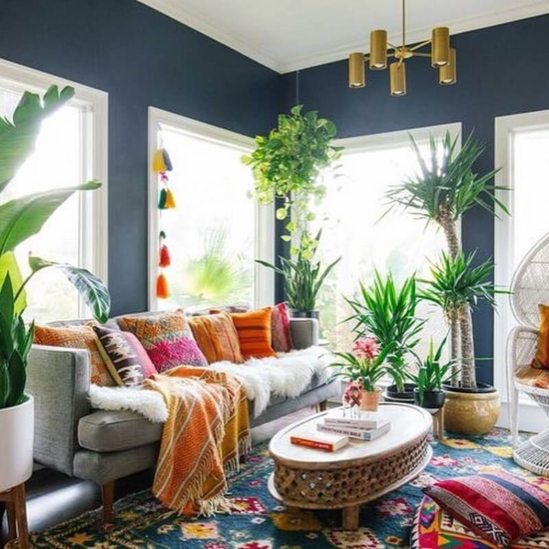 Boho Living Room Design and Decor Ideas | Hippie Boho Style